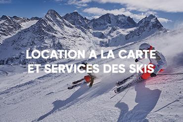 Location à la carte et services des skis